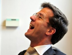 Mark Rutte looking at the ceiling