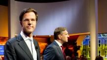 Mark Rutte not looking at Buma