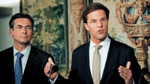 Mark Rutte looking away