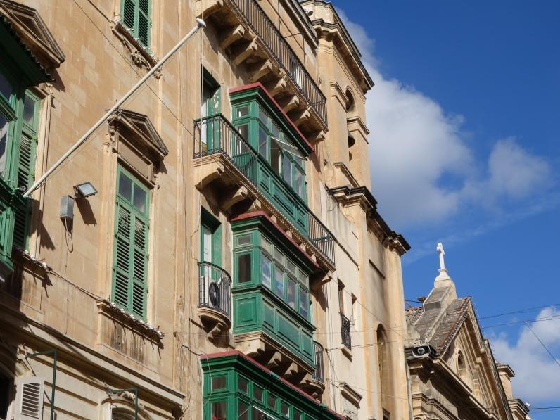 Ancient building in Valletta, Malta 2