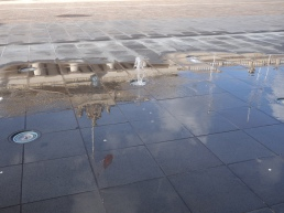 Reflection of the Government buildings in Malta