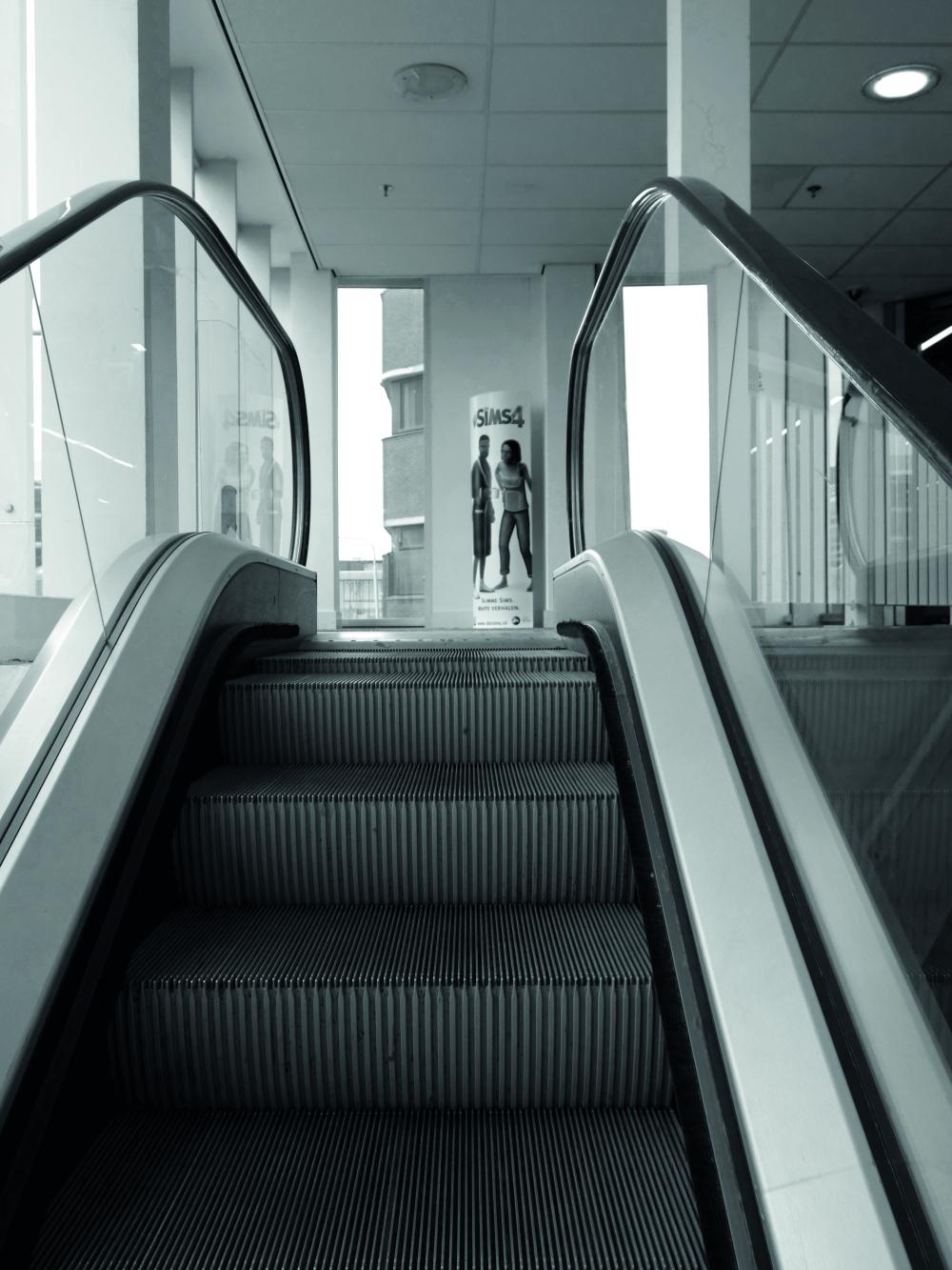 Monochrome Tuesday - escalator