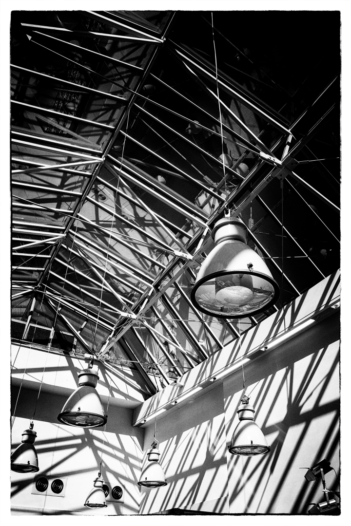 monochrome monday glasshouse lighting