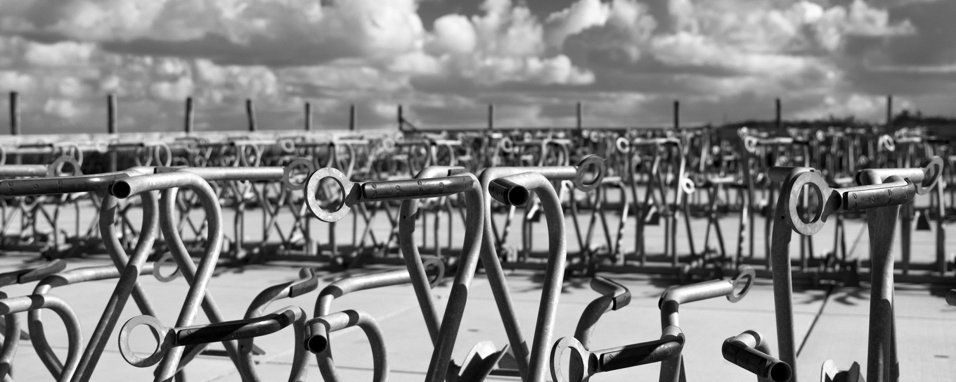 monochrome monday - bicycle stands